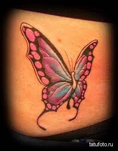 тату на попе бабочка 6