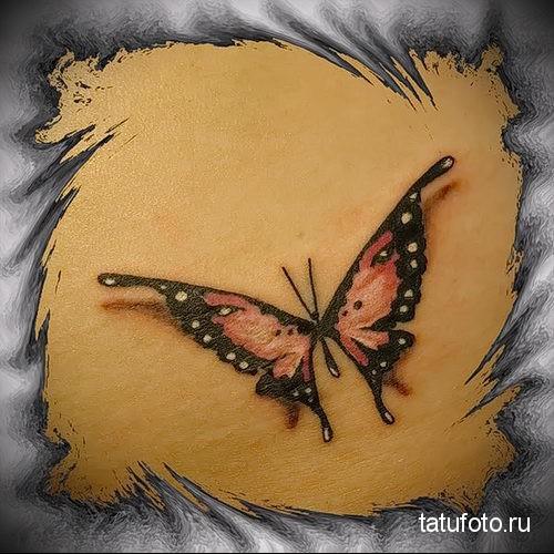 тату на попе бабочка 7