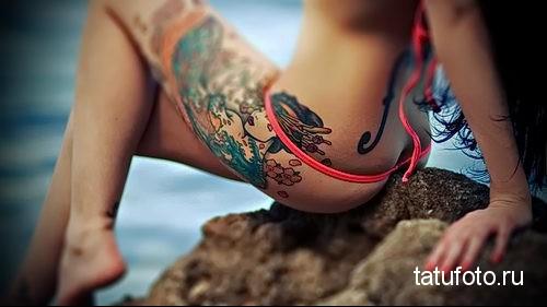тату на попе - женские ягодицы как место для татуировки - фото 6