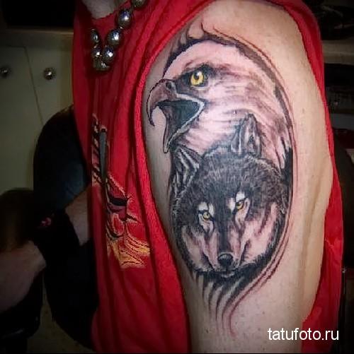 тату орел и волк 3