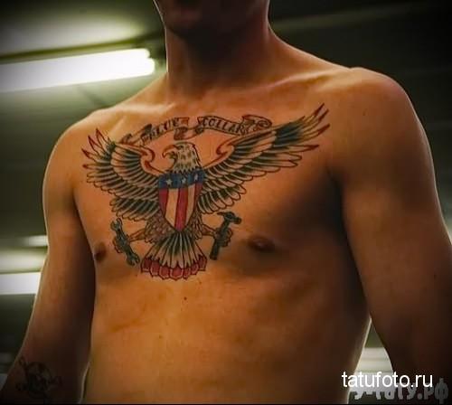 тату орел на груди 2