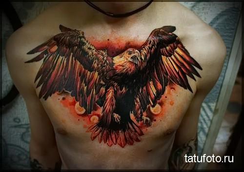 тату орел на груди 4