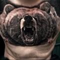 тату оскал медведя на всю грудь для славянина