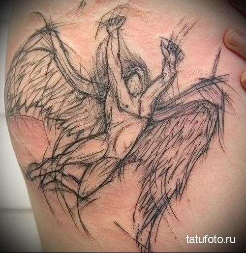 тату падший ангел 1