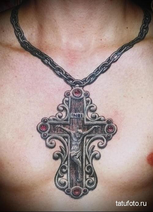 тату православный крест 1