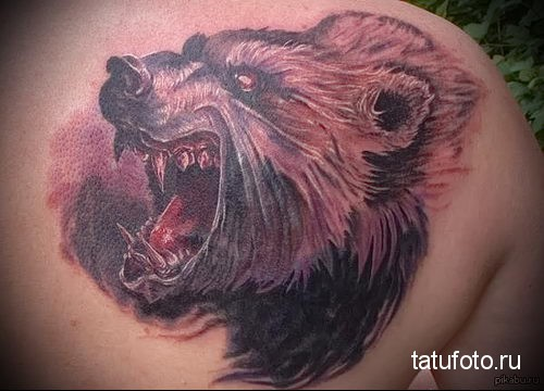 тату русский медведь 3