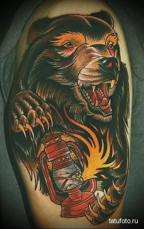 тату с изображением медведя 1