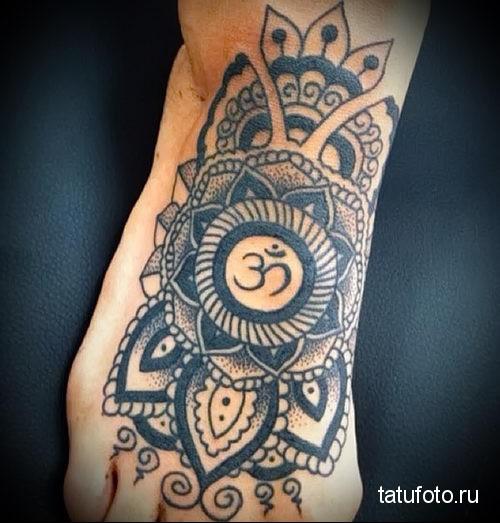 Indian lotus tattoo 2
