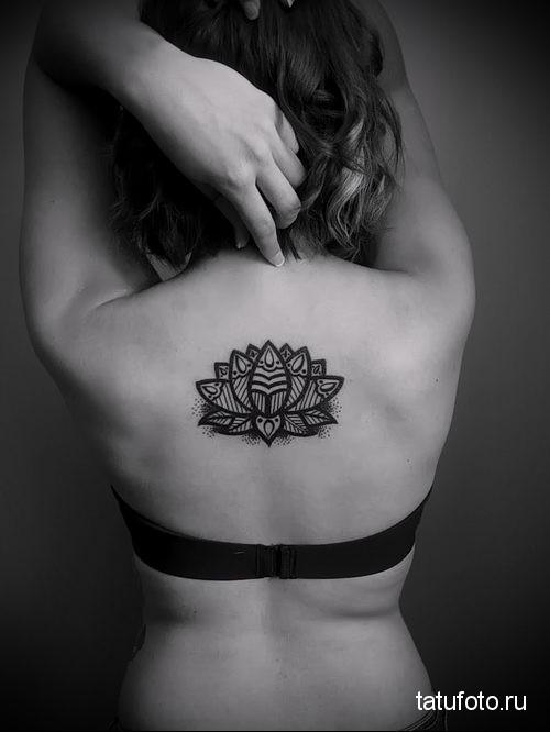 Mandala lotus tattoo 3