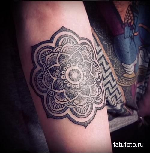 Mandala lotus tattoo 4