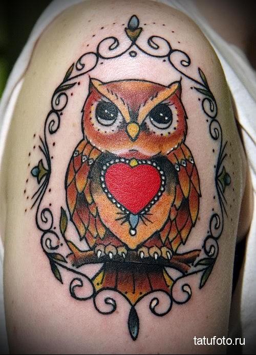 Owl Tattoo Old School 2
