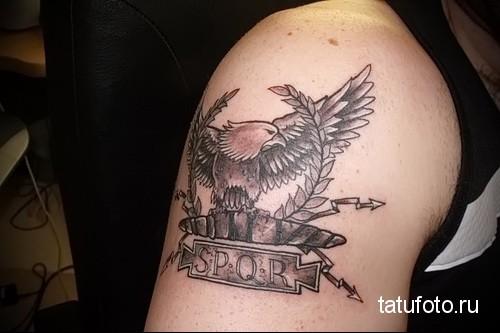 Roman eagle tattoo 1