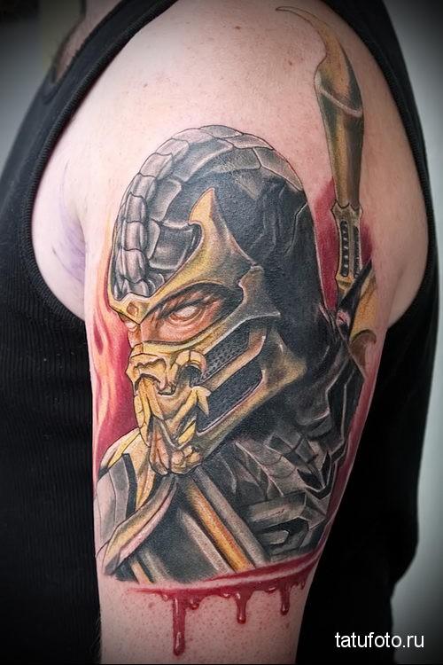 Scorpion tattoo Mortal Kombat 1