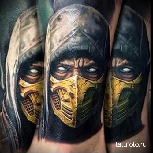 Scorpion tattoo Mortal Kombat 2