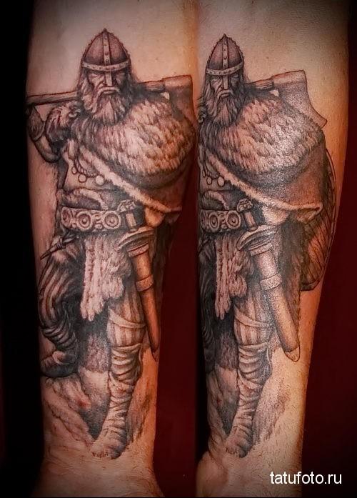 Slavic tattoo on forearm 2