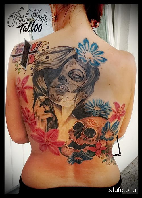 Tattoo Chicano Skull 2
