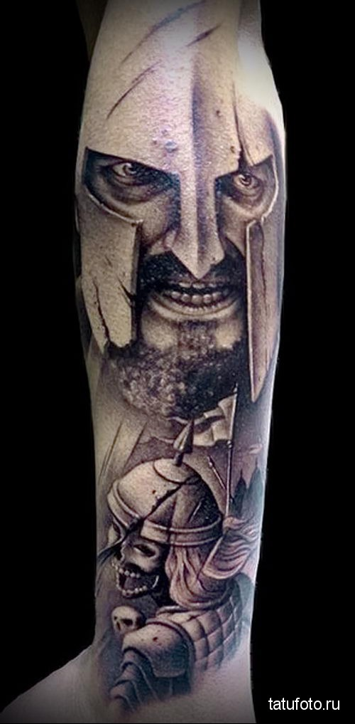 Warriors forearm tattoo 2
