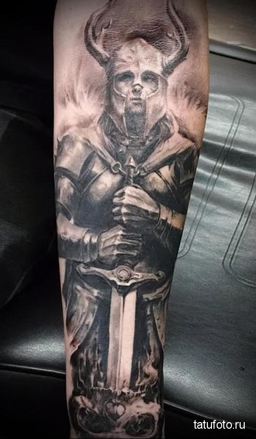 Warriors forearm tattoo 3