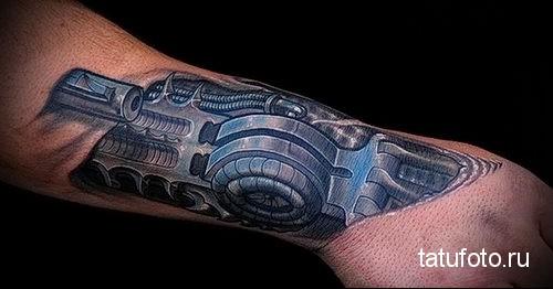 biomechanics tattoo on the forearm 2