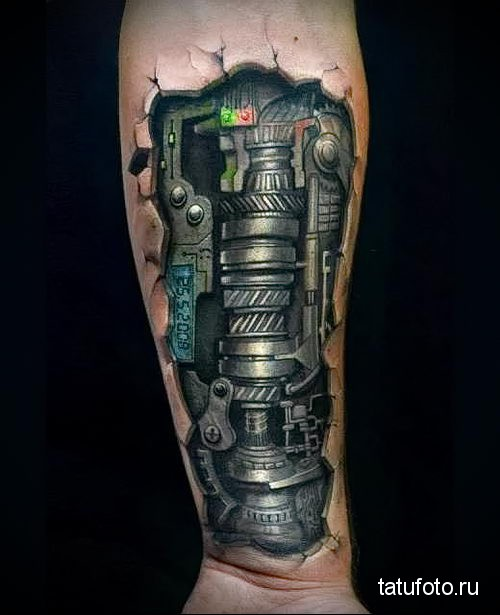 biomechanics tattoo on the forearm 3