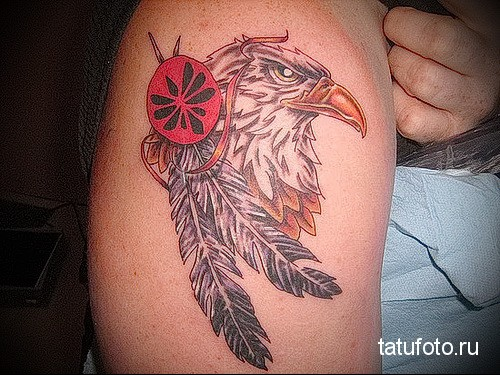 eagle tattoo on his arm 1