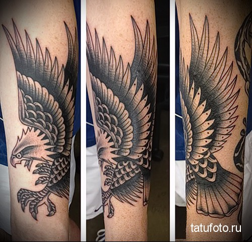 eagle tattoo on the forearm 1