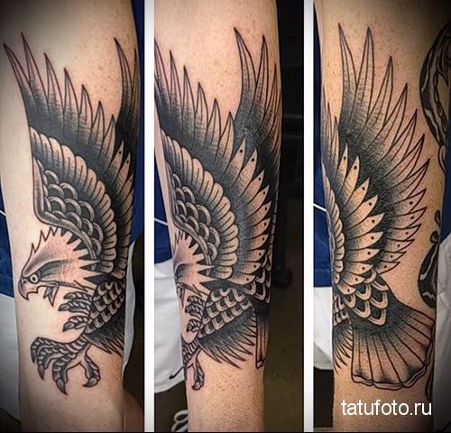 eagle tattoo on the forearm 1