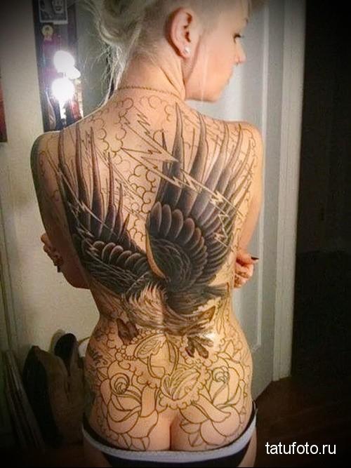 eagle wing tattoo 1