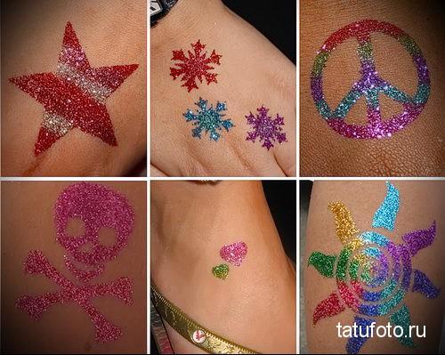 glitter tattoo 1