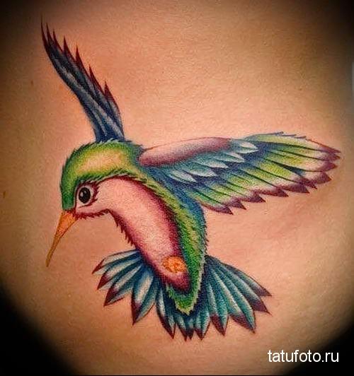 hummingbird tattoo photo 2