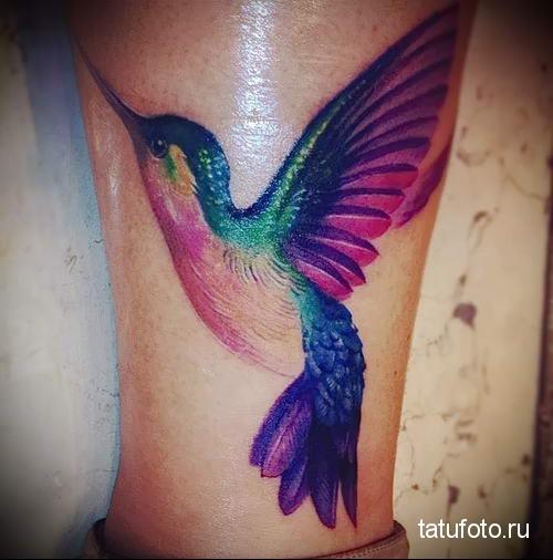 hummingbird tattoo photo 3