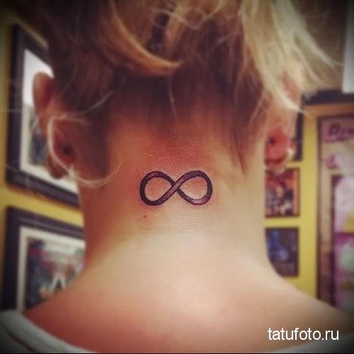 infinity tattoo on his neck Photo 4