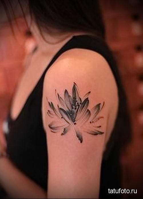 lotus tattoo black and white 3