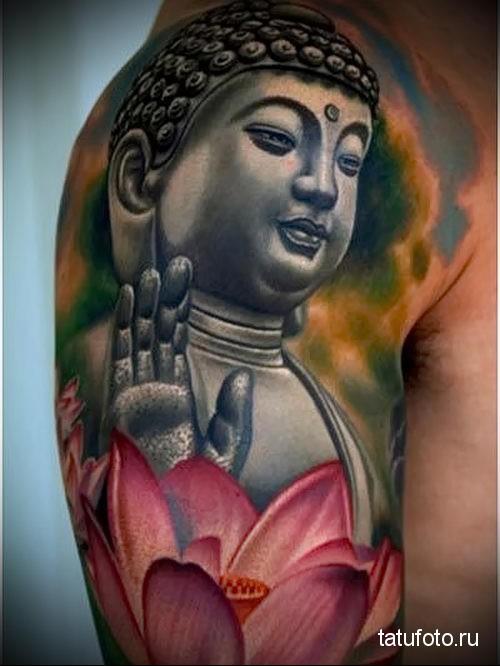 lotus tattoo on his arm 3