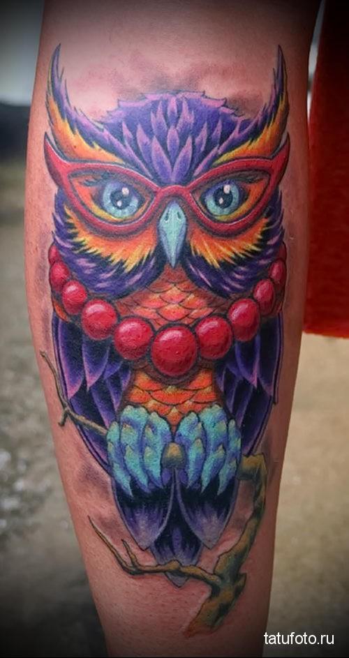 owl tattoo color 1