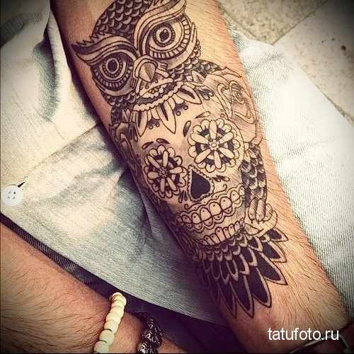 owl tattoo on forearm 3