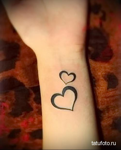 small heart tattoo 2