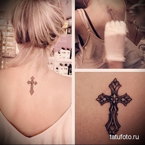 small tattoo on her back 2
