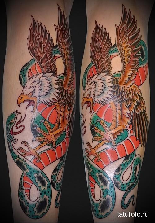 snake tattoo eagle 2