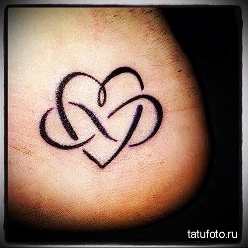 tattoo heart and infinity 1