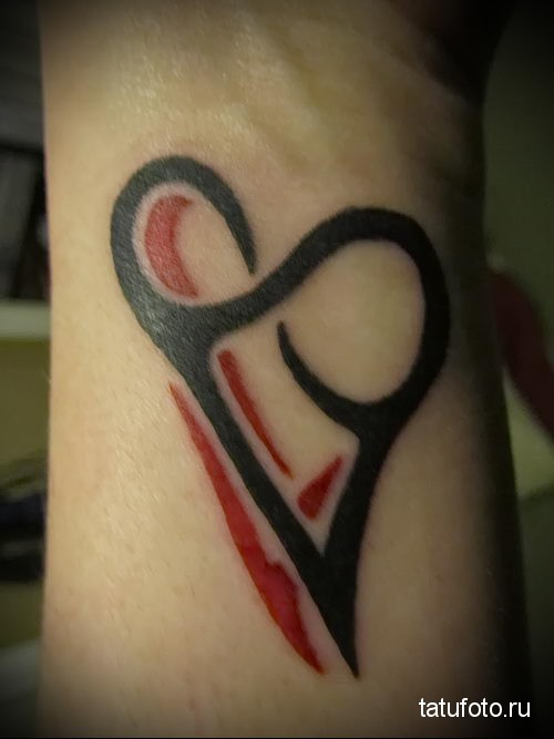 tattoo heart and infinity 5