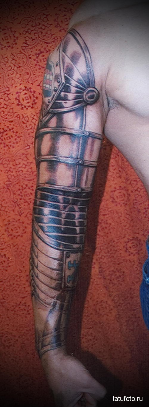 tattoo on the forearm armor 2