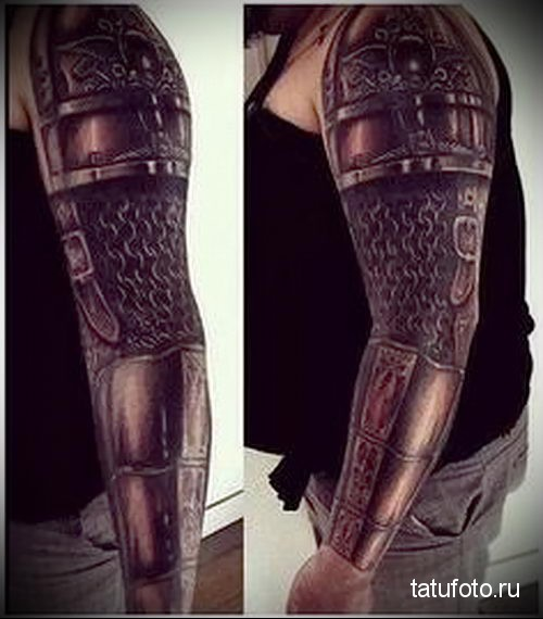 tattoo on the forearm armor 3