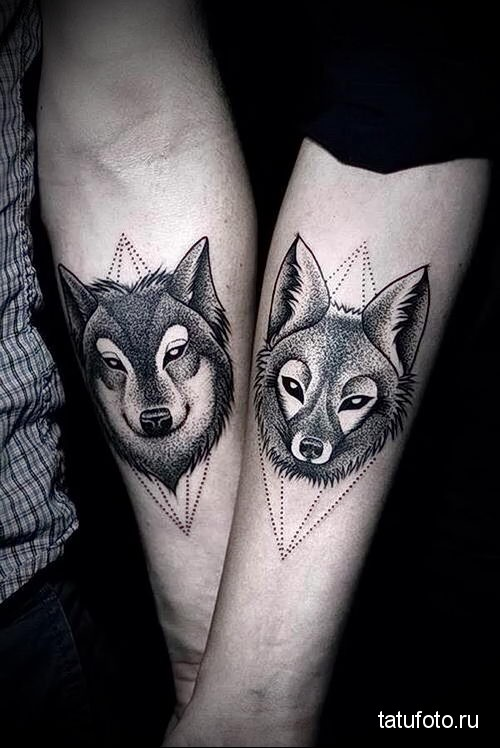 wolf tattoo on the forearm 2