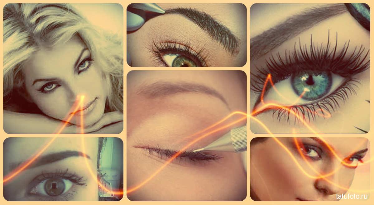 Татуаж глаз фото – межресничный, стрелки, фото до и после, отзывы - готовые примеры