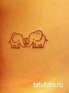 Тату слон влюбленный в слона