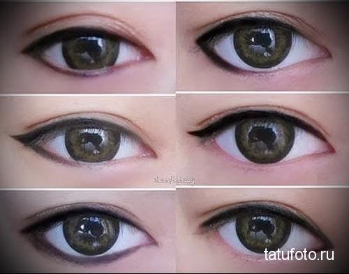 Как с помощью подводки сделать глаза больше