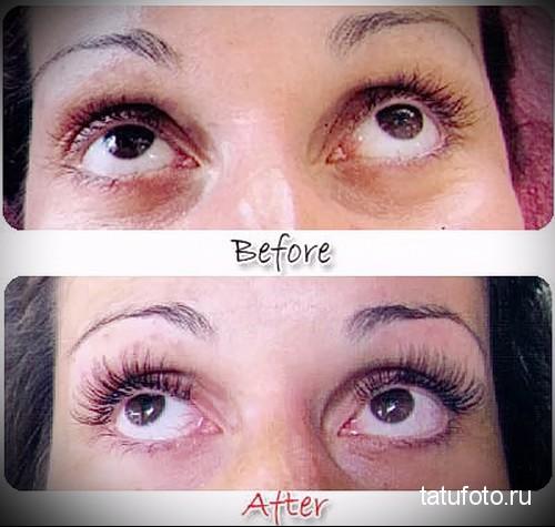 межресничный татуаж глаз фото до и после 2