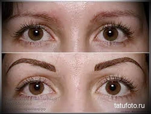 межресничный татуаж глаз 1