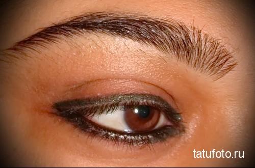 татуаж глаз стрелки фото 2